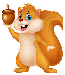 cute squirrel with acorn png cartoon clipart gallery
