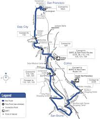 Bart Lines Map by Route 122