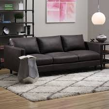 Sax Oxford Brown Leather Sofa Free Shipping Today Overstock - Full leather sofas