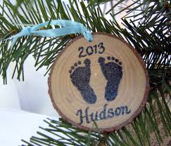 personalized baby ornament babys first christmas by hudsonblockco