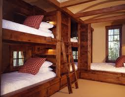 Cabin Bunk Beds Updated Log Cabin Inspired Built In Bunk Beds Gorgeous And Cozy