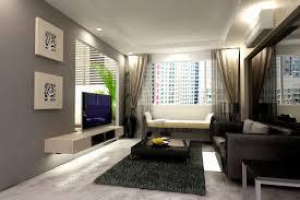 living room tv wall decor warm lighting glass side table brown