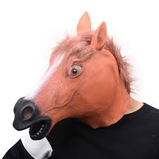 Horse Head Mask Meme - full head mask horse head mask creepy fur mane latex realistic crazy