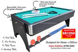 3 in 1 pool table air hockey singapore leading 3 in 1 billiard air hockey table tennis pool