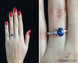 oval sapphire engagement rings 1 47 carat oval sapphire and engagement ring gr005