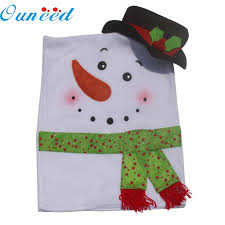snowman chair covers 2 pcs christmas snowman chair covers home decoration kitchen