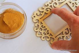 diy gold frame ornament the country chic cottage