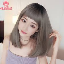 wigs short hairstyles round face short hair straight hair long hair dog hair liu haimao gray hair