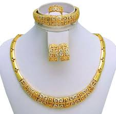 gold sets design buy 18k real gold plated italian design chunky jewelry set 4