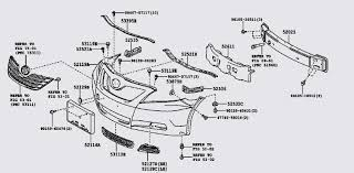 1999 toyota camry front bumper can anyone give me a front parts diagram with parts breakdown