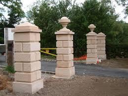 ram masonry gate posts