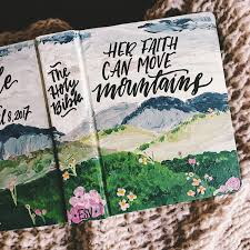 gift bibles painted bible cover landscape bible personalized gift