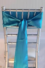 turquoise blue satin chair sashes 6x108