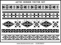 mayan clipart border pencil and in color mayan clipart border