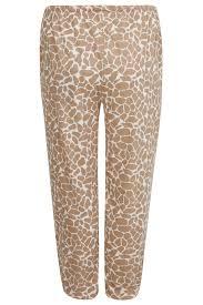 Giraffe Print Leggings Multi Giraffe Print Pyjama Bottoms Plus Size 14 To 32