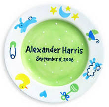 personalized birth plates personalized birth plate ceramic birth plates at for that occasion