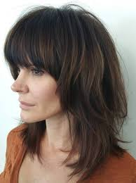 medium length hairstyles front and back with bangs 50 best variations of a medium shag haircut for your distinctive style