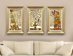 tree of life home decor 3 pcs gustav klimt tree of life living room mural for home