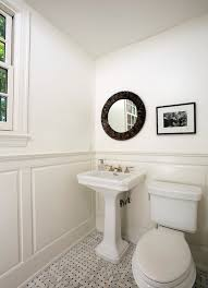 Bathrooms With Wainscoting White Marble Wainscoting Design Ideas