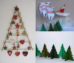 Ideas For Christmas Tree On Wall by 21 Ideas For Making Alternative Christmas Trees To Recycle Clutter