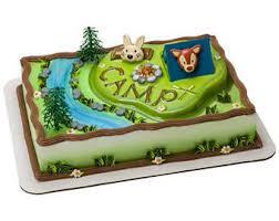 camping cake topper etsy
