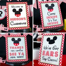 mickey mouse party mickey mouse birthday party signs