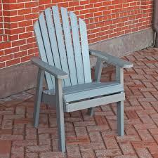 Recycled Plastic Furniture A U0026 L Furniture Recycled Plastic High Seat Adirondack Chair
