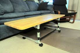Couch Desk Table Adjustable Height Desk Coffee Table Position Diy Pinterest