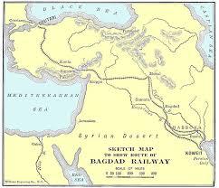 map of baghdad berlin baghdad railway the great war