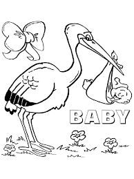 storks coloring pages coloring