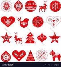 scandinavian christmas decorations royalty free vector image