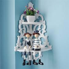 White Bathroom Shelf With Hooks by Online Get Cheap White Corner Shelf Aliexpress Com Alibaba Group