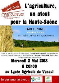 chambre agriculture haute saone conférence rencontre vesoul table ronde l agriculture un