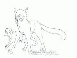 cat coloring page warrior cat kids coloring