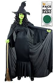 wicked witch of the east costume green witch fancy dress costume plain black cape with hood