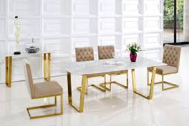 marble top dining room sets cameron 712 marble top dining table in golden tone w options