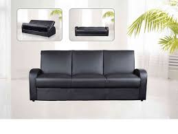 Leather 3 Seater Sofas Faux Leather 3 Seater Sofa Bed Black Brown Homegenies
