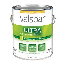 shop valspar ultra 4000 white gloss oil based enamel interior