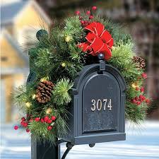 improvements pre lit mailbox garland 7310433 hsn