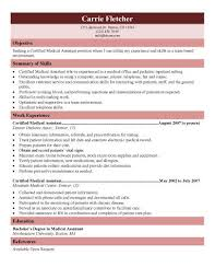 healthcare medical resume medical assistant resume free medical