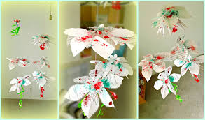 diy hanging flowers paper decorations