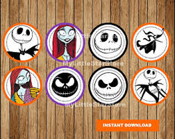 nightmare before christmas cupcake toppers christmas toppers etsy