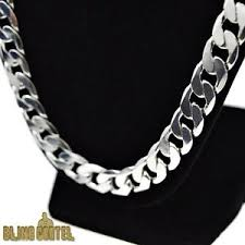 big link necklace images 30 quot cuban link necklace silver plated big thick 12mm heavy miami jpg