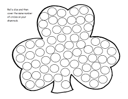 coloring page extraordinary shamrock activities st patricks day