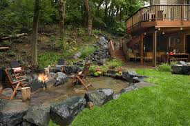 award winning backyard waterfall and patio southview design