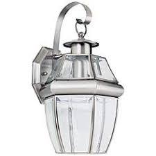brushed steel outdoor lighting lamps plus