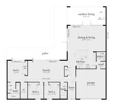 Karsten Homes Floor Plans Azalea House Plan Modern Ranch Concrete Slab And Ranch