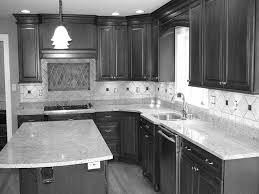 White Kitchen Cabinets With Granite Countertops Black And Grey Kitchen Designs Metal Pull Handle Beige Oak Kitchen