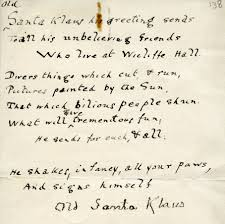 santa writing paper christmas with the founders www spc ox ac uk at the risk of receiving a stern letter from santa klaus i will assume that these were written by francis james chavasse in which case they offer a rare