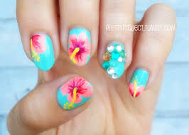 tropical nail art nailed it pinterest nail nail makeup